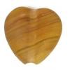 Glass Pressed Beads 10x10mm Heart Khaki Matt